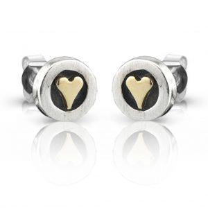 nick hubbardheart earrings