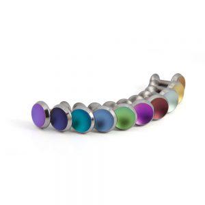 Coloured concave titanium cufflinks