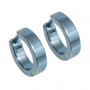 titanium small flat hoop earrings