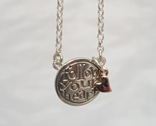 Follow your Heart pendant by Nick Hubbard