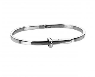 Sterling silver bangle with hinged opening